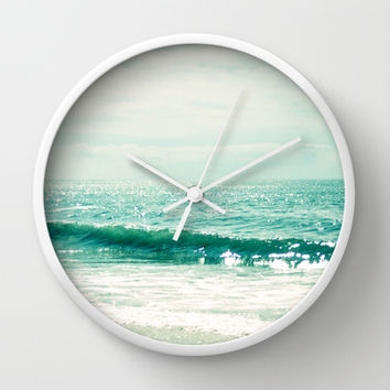 Sea of Tranquility... Wall Clock by Lisa Argyropoulos