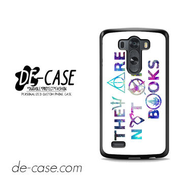 They Are Not Only Books Harry Potter The Hunger Games For LG G3 Case Phone Case Gift Present