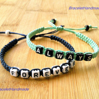 Always Forever Bracelets set for Couples -- lovers bracelet-- Christmas gift -- friendship gift