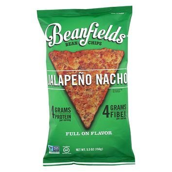Beanfields - Bean And Rice Chips - Jalapeño Nacho - Case Of 6 - 5.5 Oz