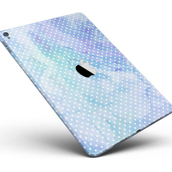 "Micro Polka Dots Over Blue Watercolor Surface Full Body Skin for the iPad Pro (12.9"" or 9.7"" available)"