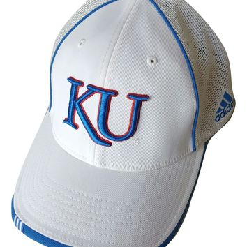 Adidas Kansas Jayhawks Cap Flex Fit Stretch Hat, Choose Color