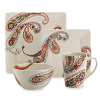 Paisley 4-Piece Dinnerware Set