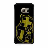 Barcelona FC Wood Samsung Galaxy S6 Edge Case