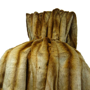 Plutus Sheared Faux Chinchilla Throw