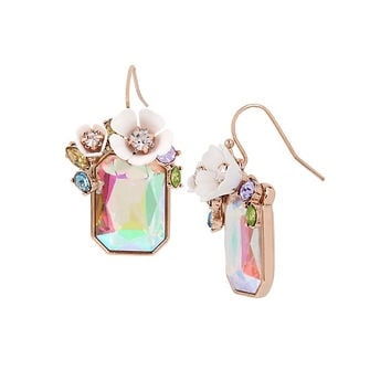 FLUTTERBYE STONE DROP EARRINGS: Betsey Johnson