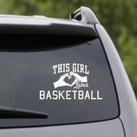This Girl Loves Basketball Decal Sticker Car Window Truck Laptop