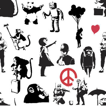 Removable Wallpaper - Banksy Dance