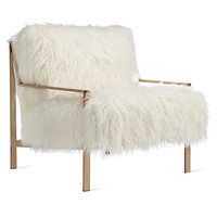 Axel Fur Accent Chair | Axel Sequoia Entryway Inspiration | Entryway Inspiration | Inspiration | Z Gallerie