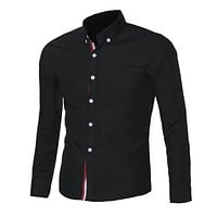 Slim Fit Button Dress Shirt With Collar