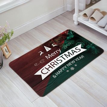 Autumn Fall welcome door mat doormat Christmas Decor  Wooden Plank Back Old Fashioned Christmas Theme Ornaments Indoor/Outdoor/Front Welcome  AT_76_7