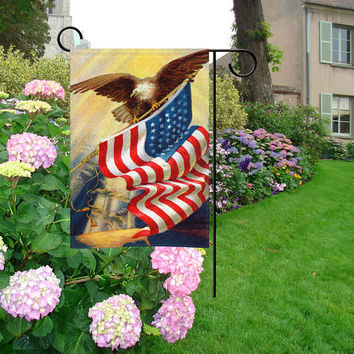 4th of July Independence Day Garden Flag | Dream Catcher Garden Flag | Tree of Life Garden Flag