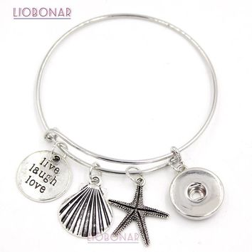 10PCS New Ocean Beach Sea Shell Starfish Charm Bracelets