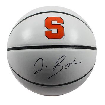DCCKU7Q Jim Boeheim Signed Syracuse Orangeman Jarden White Panel Full Size Basketball