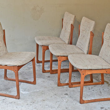 Awesome Set of Danish Teak Dining Chairs