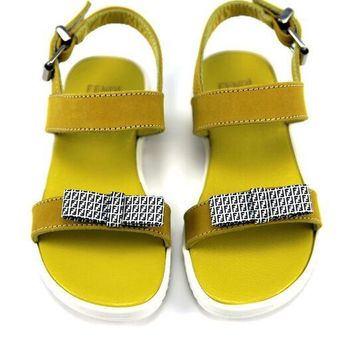 Fendi Baby Girls Yellow Sandals