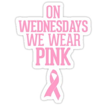 On Wednesdays We Wear Pink Breast Cancer Awareness Ribbon