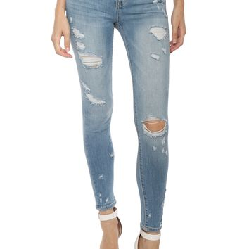 VERVET MR Slightly Distressed Skinny