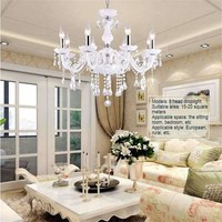 2017 LED Crystal Chandeliers Light Living Room  Bedroom  Droplight Pendant LED Ceiling Lamp Hanging Lamp