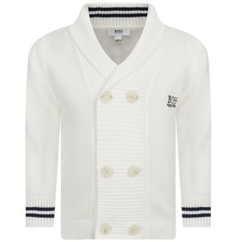 Hugo Boss Baby Ivory White Knitted Cardigan