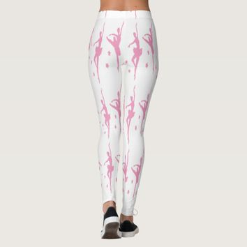 Ballet DancersSmall Pink Silhouette On Any Color Leggings