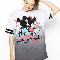 ASOS Tunic Top with Mickey and Minnie Amour Print