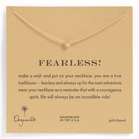 Dogeared 'Whispers - Fearless' Pendant Necklace | Nordstrom