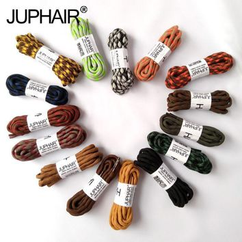 JUP 1 Pair Double Shoelaces Hiking Shoes Laces Round Shoelace Strings Shoes Round Poly