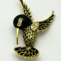 SPHINX England Figural Hummingbird Brooch Pin