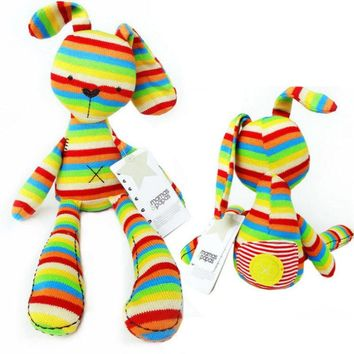 English Style Plush Rainbow Bunny
