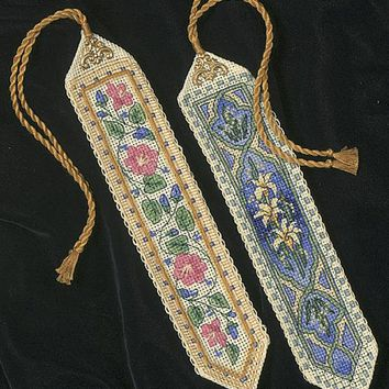 """Gold Collection Bookmarks Counted Cross Stitch Kit-9"""" Long 14 Count Set Of 2"""