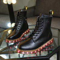 Women/men Led Shoes Light Up  Boots