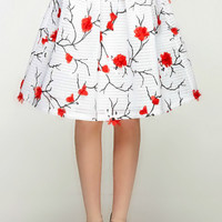 Japanese Gardenia Applique Skirt