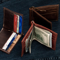 Money Clip Wallet, Leather Money Clip Wallet, Mens Leather Wallet, Wallets for Him, Gifts for Men, Groomsmen Gifts, Men's Leather Wallet