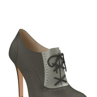 Brogue Leather Bootie (Women)