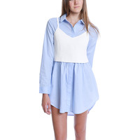 Outing Shirt Dress - Blue/Ivory