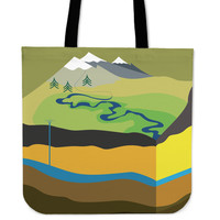 Geologist Linen Tote Bag