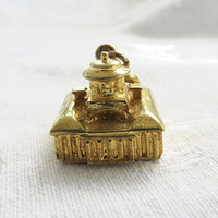 Vintage Inkwell Charm, Signed Danecraft Sterling Vermeil Inkwell Charm Bracelet Pendant Vintage Charms