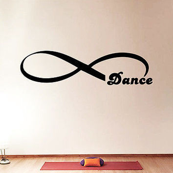 Wall Decal Quotes Infinity Symbol Dance Loop Vinyl Stickers Bedroom Decor DA3812