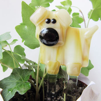 Dog Lover Plant Stake, Garden Stake, Dog Lover Gift, Potted Plant Decor, Yard Art, Pets Lover Figure, Get Well Present, Any Occasion Gift