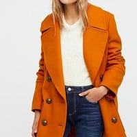 Naiomi Solid Wool Peacoat