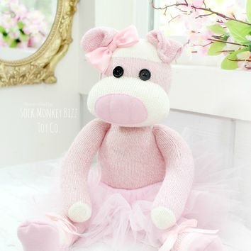Child's Handcrafted Ballerina Pig Doll