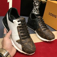 LV Louis Vuitton Fashion Women Men Trending Casual Sport Running Sneakers Shoes I