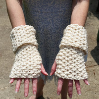Custom Color Woven Crochet Arm Warmers - The Climbing Stone