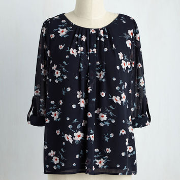 Fleurs, Of Course Top | Mod Retro Vintage Short Sleeve Shirts | ModCloth.com