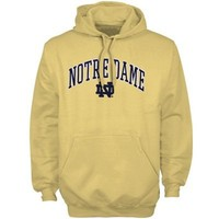 Notre Dame Fighting Irish Gold Classic Twill Fleece Hoodie Sweatshirt
