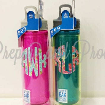 Lilly Pulitzer Inspired Monogrammed Insulated Water Bottle Camelbak