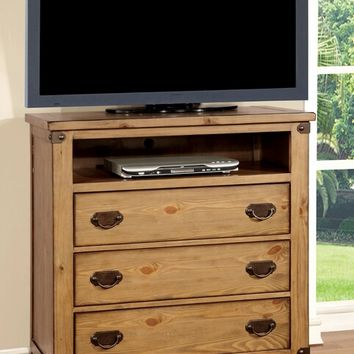 Furniture of america CM7449TV Conrad collection contemporary style distressed pine finish wood tv console media chest
