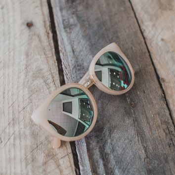 Halsey Rounded Sunnies, Light Pink