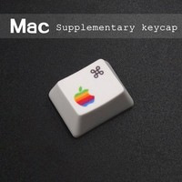 Mechanical keyboard keys PBT, thermal sublimation R1 1.25 x commond opt macos MAC supplemented key cap